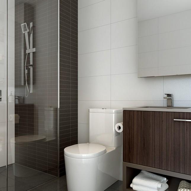 Goldfields Group, The Village dark scheme bathroom
