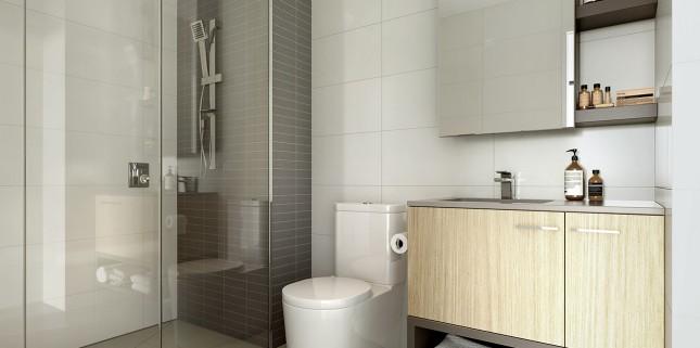 Goldfields Group, The Village light scheme bathroom