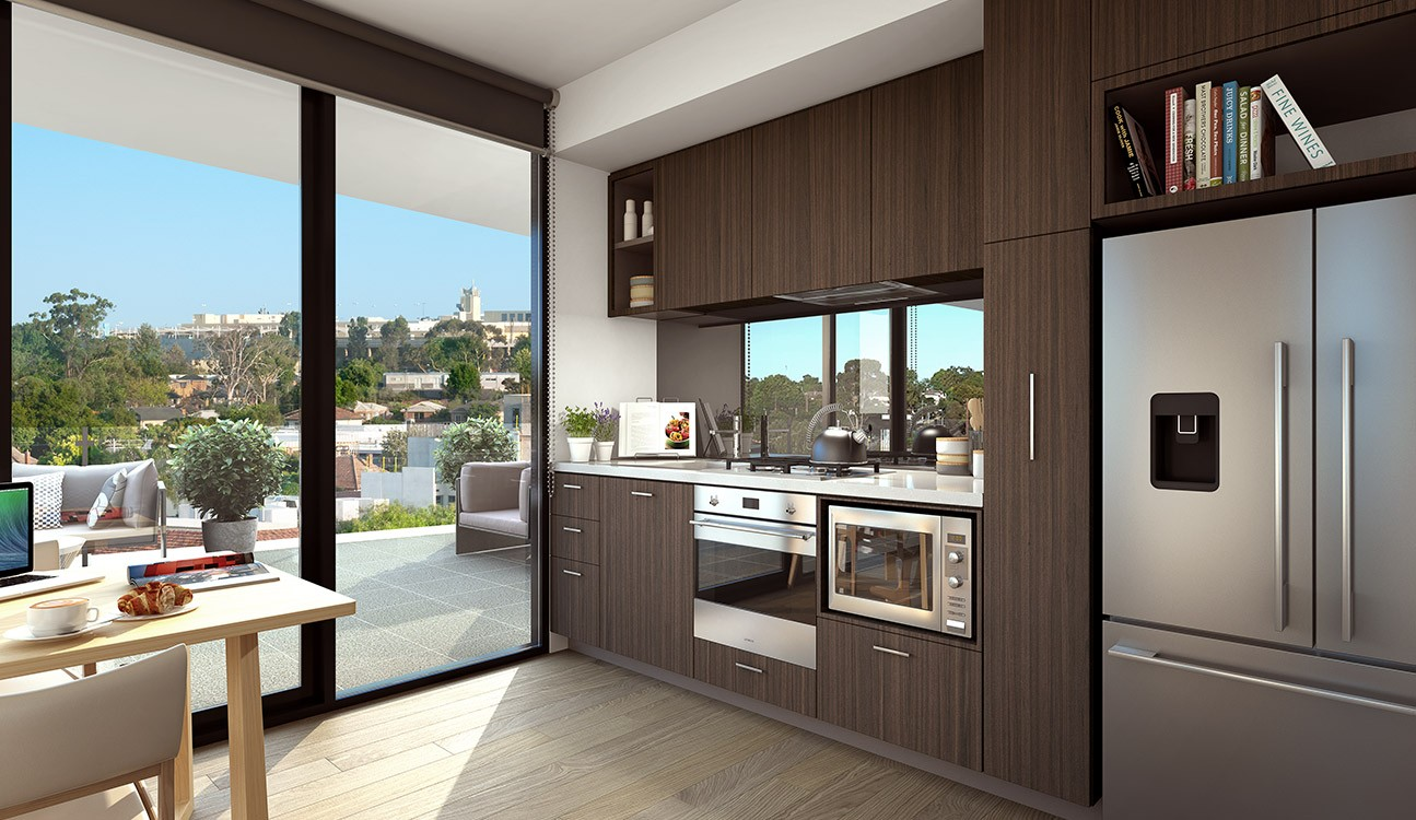 Goldfields Group, The Village dark scheme kitchen