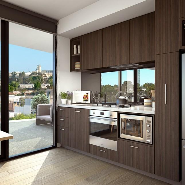 Goldfields Group, The Village dark scheme kitchen
