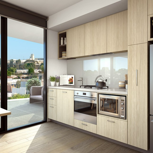 Goldfields Group, The Village light scheme kitchen